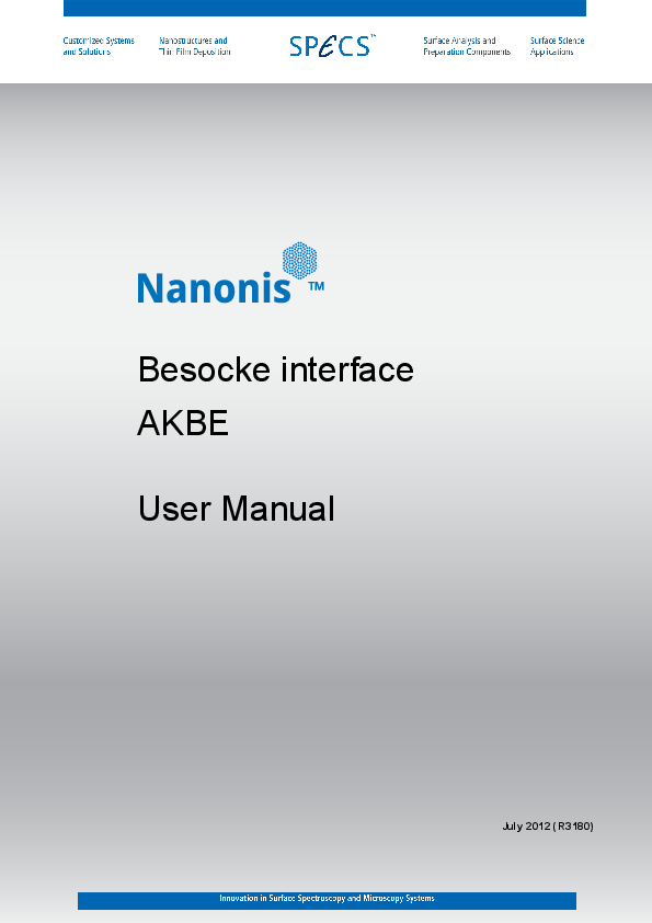 Nanonis AKBE Besocke Interface