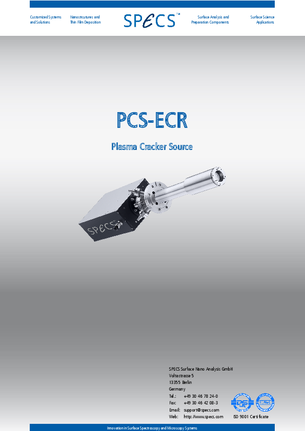 PCS-ECR Plasma Cracker Source