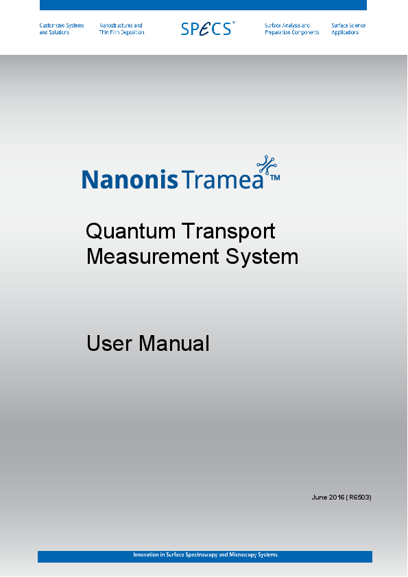 Nanonis Tramea Quantum Transport Measurement System
