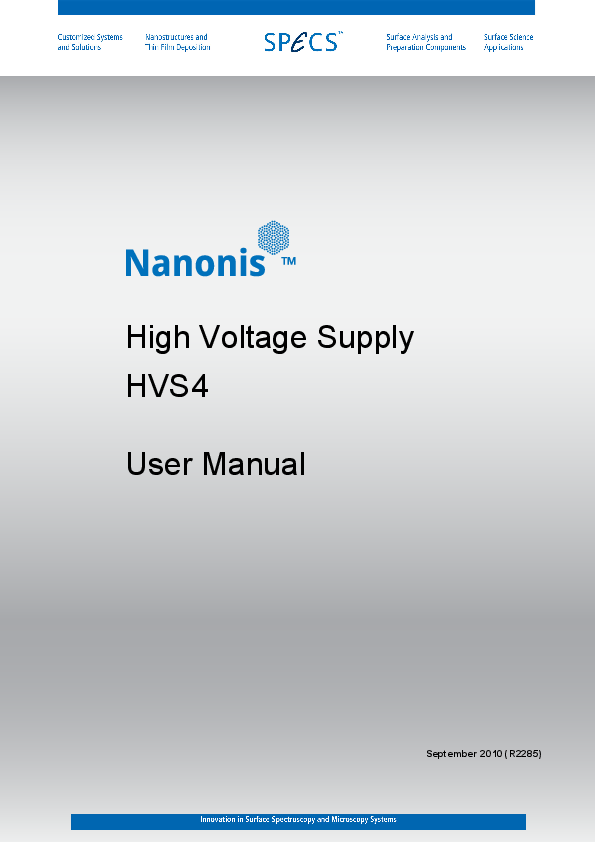 Nanonis High Voltage Supply HVS4
