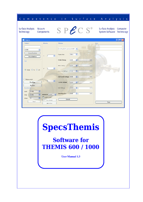 SpecsThemis Software for THEMIS 600 / 1000