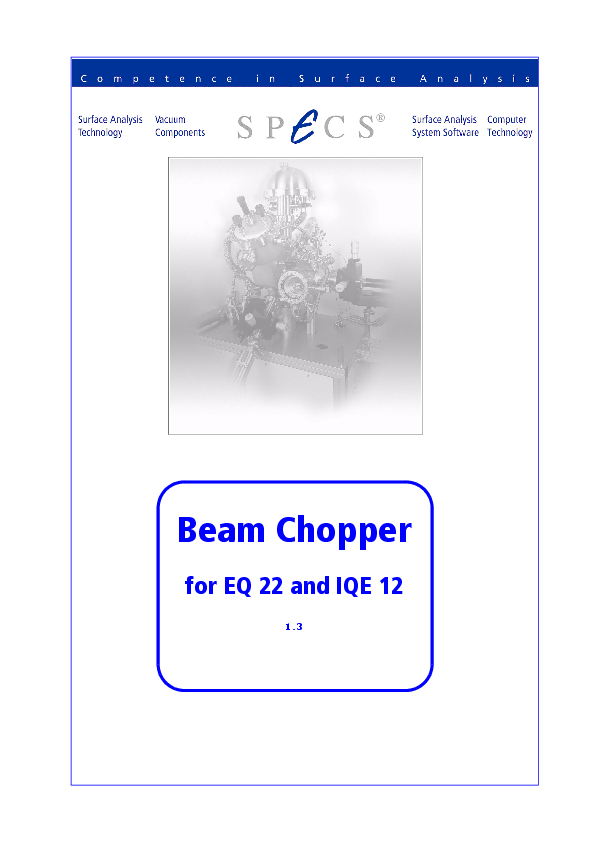 Beam Chopper for EQ 22 and IQE 12