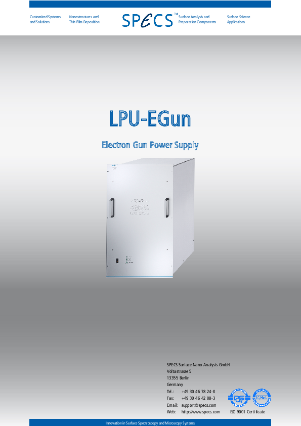 LPU-EGun Electron Gun Power Supply