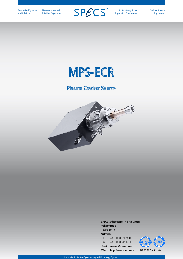 MPS-ECR Plasma Cracker Source