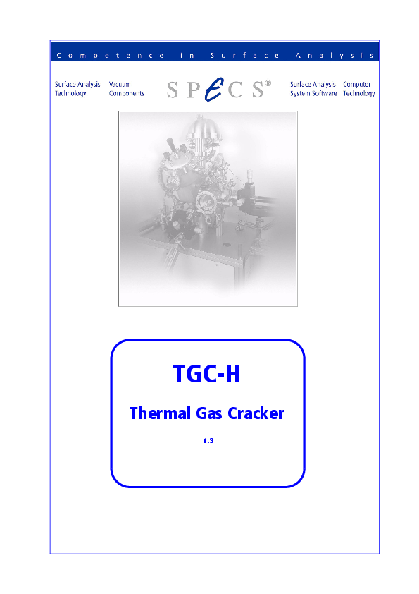 TGC-H Thermal Gas Cracker