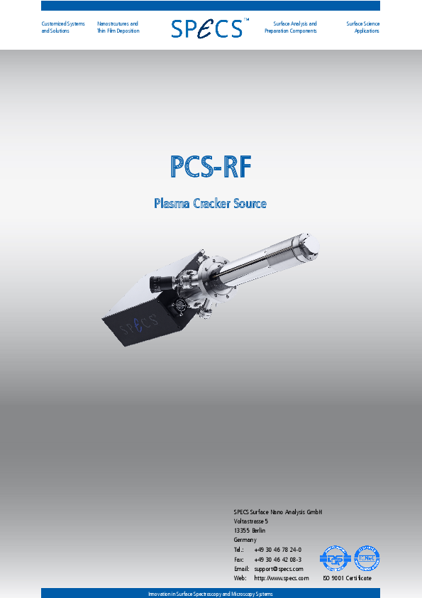 PCS-RF Plasma Cracker Source