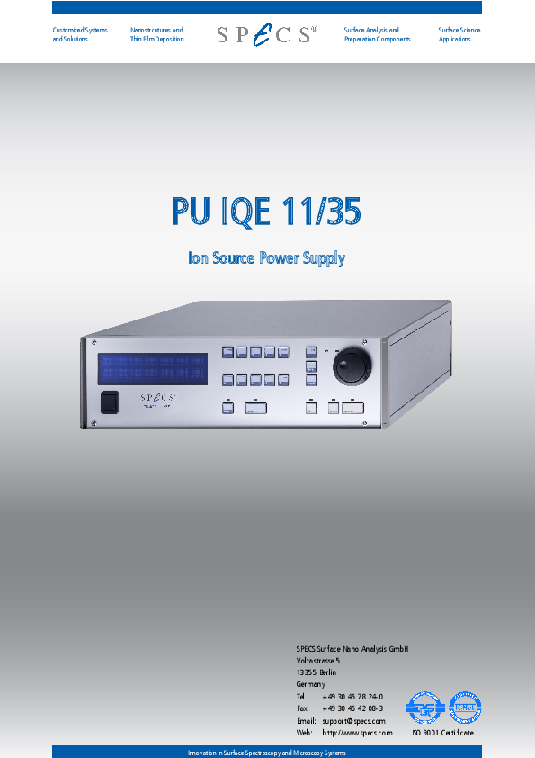PU IQE 11/35 Ion Source Power Supply