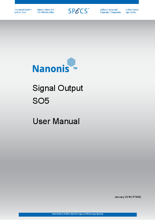 Nanonis Signal Output Interface SO5