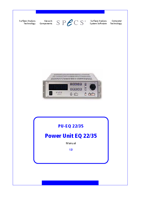PU-EQ 22/35 Power Unit EQ 22/35