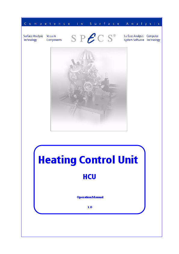 Heating Control Unit HCU