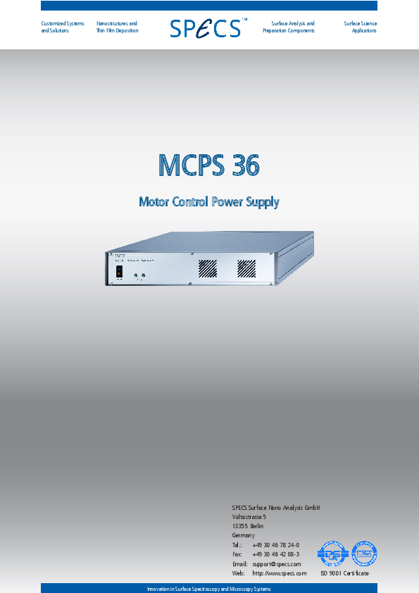 MCPS 36 Motor Control Power Supply