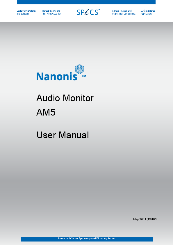 Nanonis Audio Monitor AM5