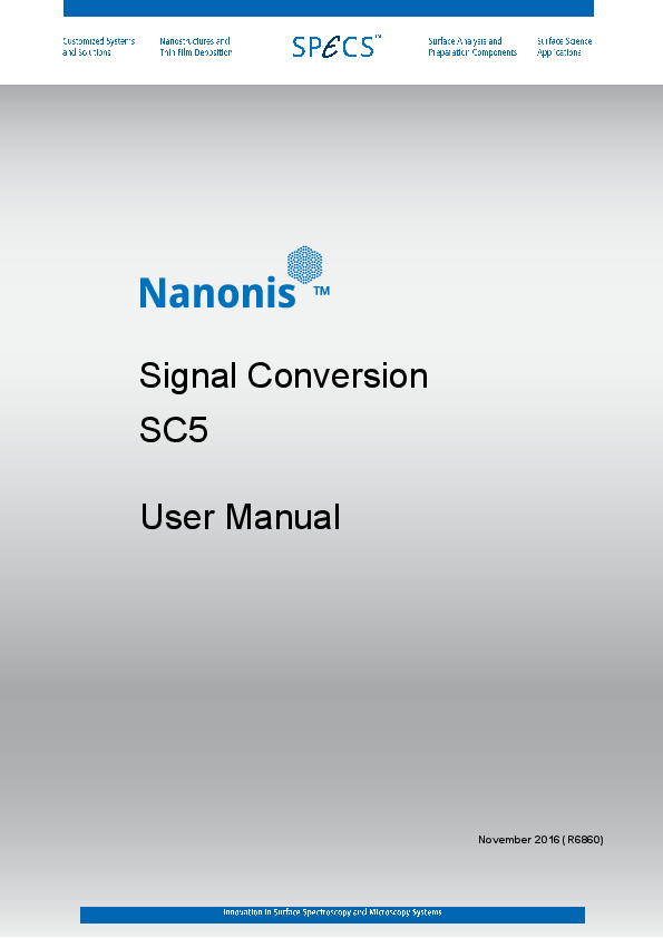 Nanonis Signal Conversion SC5