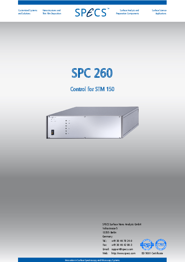 SPC 260 Control for STM 150