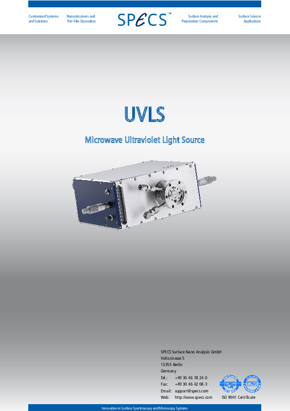 UVLS Microwave Ultraviolet Light Source